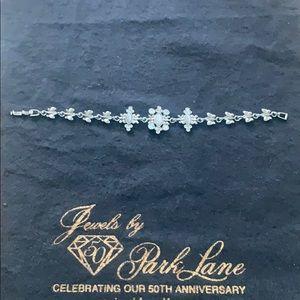 Park Lane Silver Opal/Crystal Butterfly Bracelet